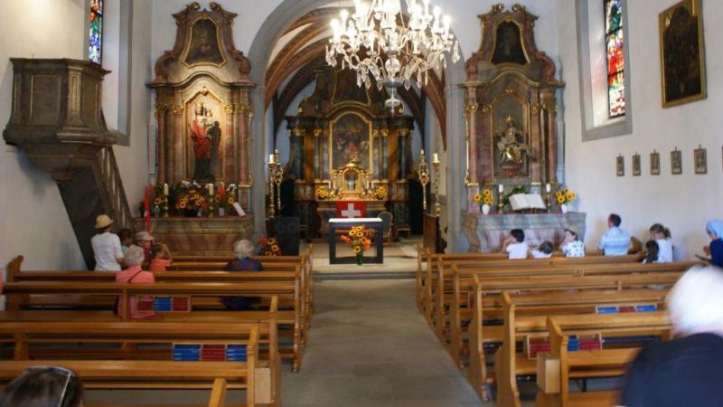L'intérieur du sanctuaire à ND Gardienne de la Foi