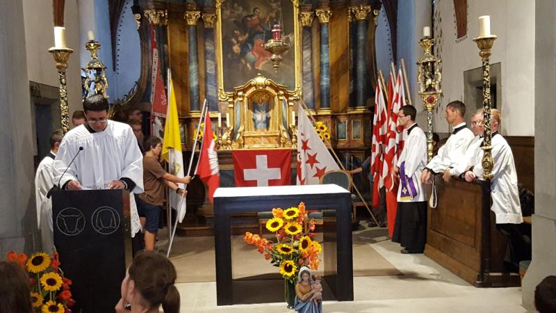 Le mot de M. l'abbé Favre, organisateur du pèlerinage